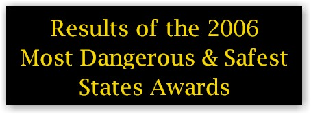 2006 Most Dangerous and Safest State Awards