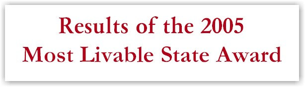 2005 Most Livable State Award