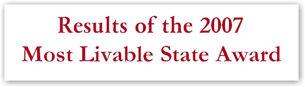 2007 Most Livable State Award